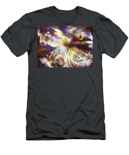 Men's T-Shirt (Slim Fit) featuring the digital art The Flowering Of The Cosmos by Amyla Silverflame