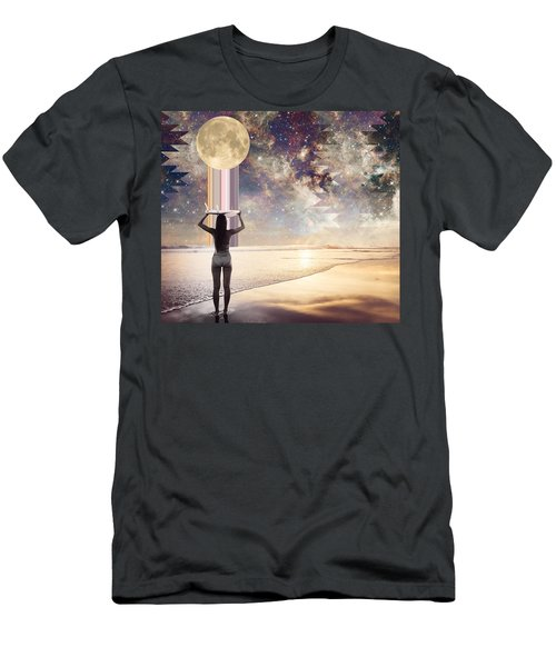 Cosmic Surf Check Men's T-Shirt (Athletic Fit)
