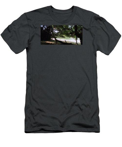 Costa Rica Beach Cove Men's T-Shirt (Athletic Fit)