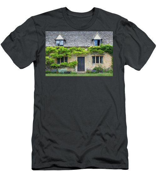 Men's T-Shirt (Slim Fit) featuring the photograph Cotswolds Cottage Home II by Brian Jannsen