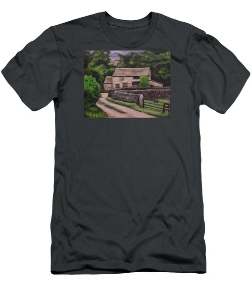 Cottage Road Men's T-Shirt (Slim Fit) by Ron Richard Baviello