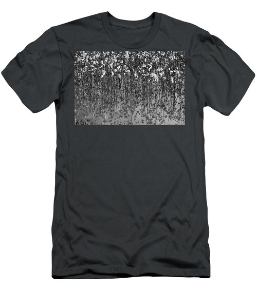 Cotton Abstract In Black And White Men's T-Shirt (Athletic Fit)
