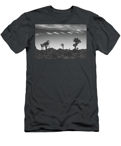 Men's T-Shirt (Slim Fit) featuring the photograph Cotton Sky On Joshua Trees by Joseph Westrupp