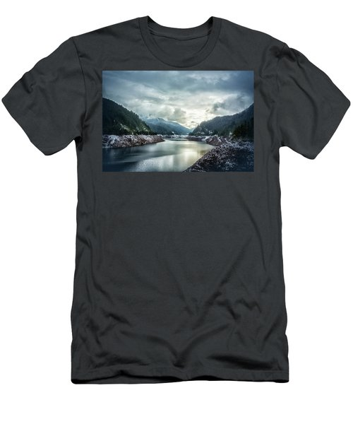 Cougar Reservoir On A Snowy Day Men's T-Shirt (Athletic Fit)