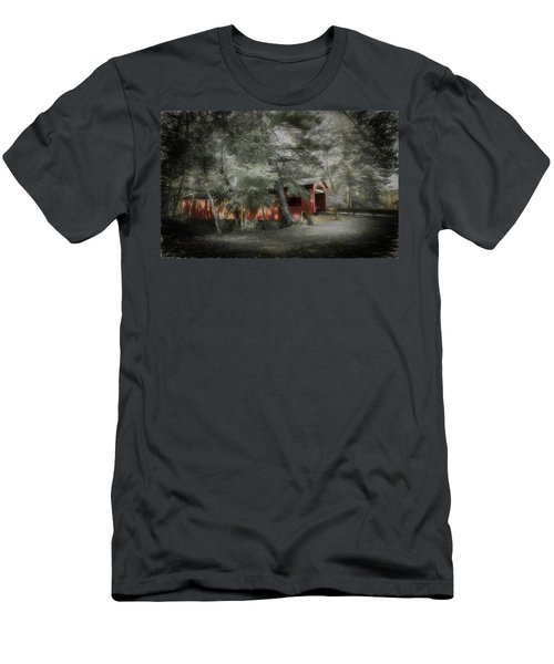 Men's T-Shirt (Slim Fit) featuring the photograph Country Crossing by Marvin Spates