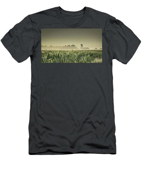 Country Farm Landscape Men's T-Shirt (Athletic Fit)