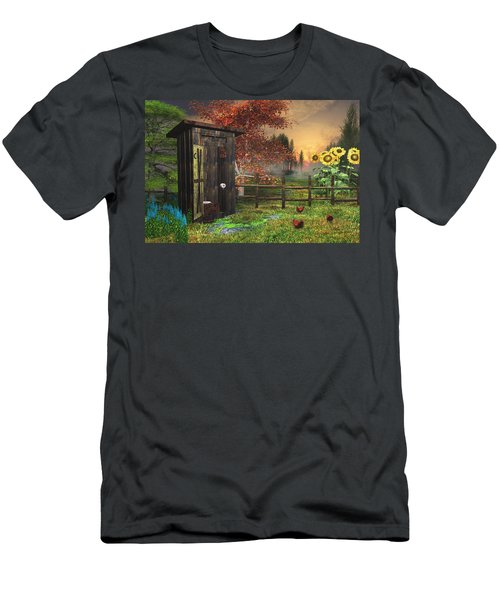 Country Outhouse Men's T-Shirt (Athletic Fit)