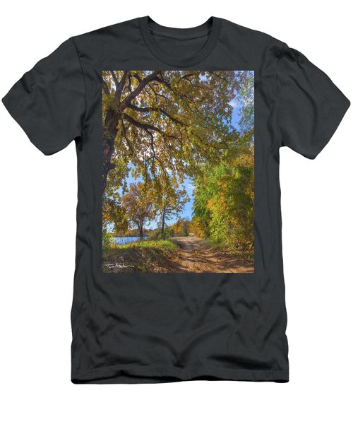 Country Road Men's T-Shirt (Slim Fit) by Tim Fitzharris