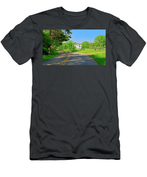 Country Roads Of America, Smith Mountain Lake, Va. Men's T-Shirt (Athletic Fit)