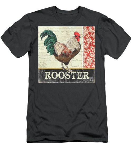 Men's T-Shirt (Slim Fit) featuring the painting Country Rooster 1 by Debbie DeWitt