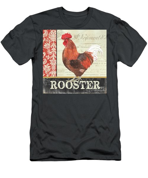 Men's T-Shirt (Slim Fit) featuring the painting Country Rooster 2 by Debbie DeWitt
