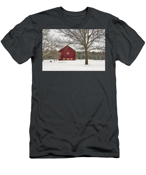 Men's T-Shirt (Slim Fit) featuring the digital art Country Vermont by Sharon Batdorf