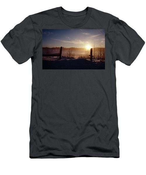 Country Winter Sunset Men's T-Shirt (Athletic Fit)