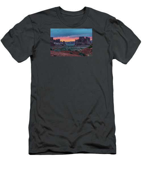 Courthouse Towers Arches National Park Men's T-Shirt (Athletic Fit)