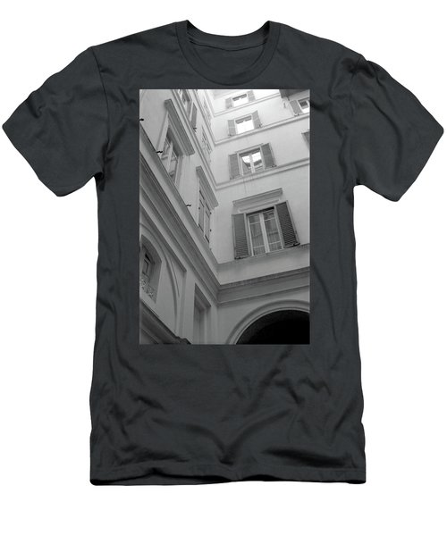Courtyard In Rome Men's T-Shirt (Athletic Fit)