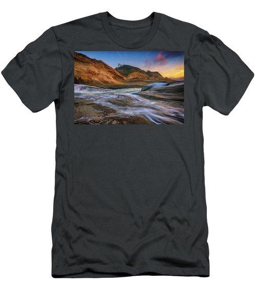 Cove At Cape Kiwanda, Oregon Men's T-Shirt (Athletic Fit)
