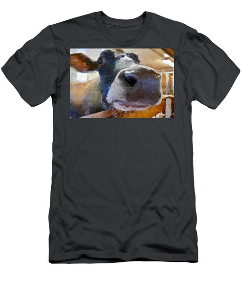 Cow Face Close Up Men's T-Shirt (Athletic Fit)