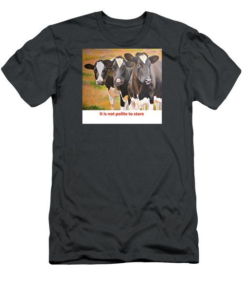 Cow Holstein Trio Men's T-Shirt (Athletic Fit)