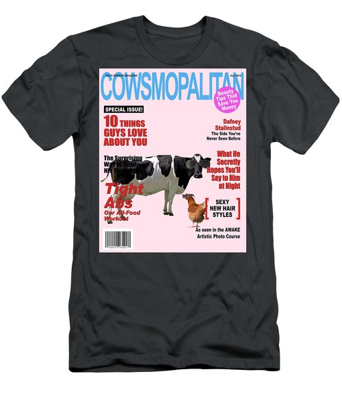 Cow Poster Men's T-Shirt (Athletic Fit)