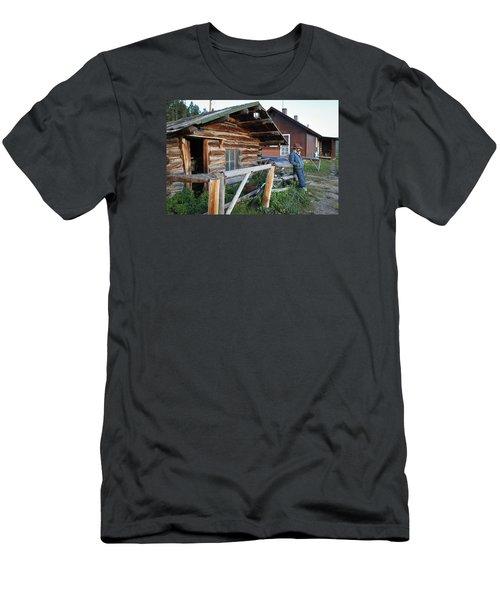 Cowboy Cabin Men's T-Shirt (Slim Fit) by Diane Bohna