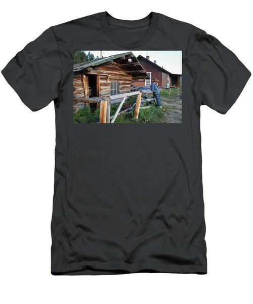 Cowboy Cabin Men's T-Shirt (Athletic Fit)