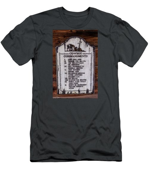 Cowboy Commandments Men's T-Shirt (Athletic Fit)