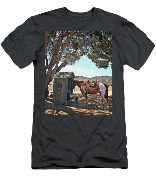 Cowboy Gotta Go Men's T-Shirt (Athletic Fit)