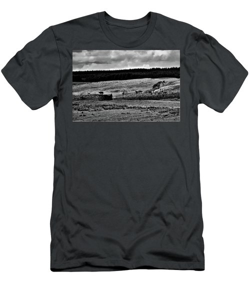 Cows On A Wall Men's T-Shirt (Athletic Fit)
