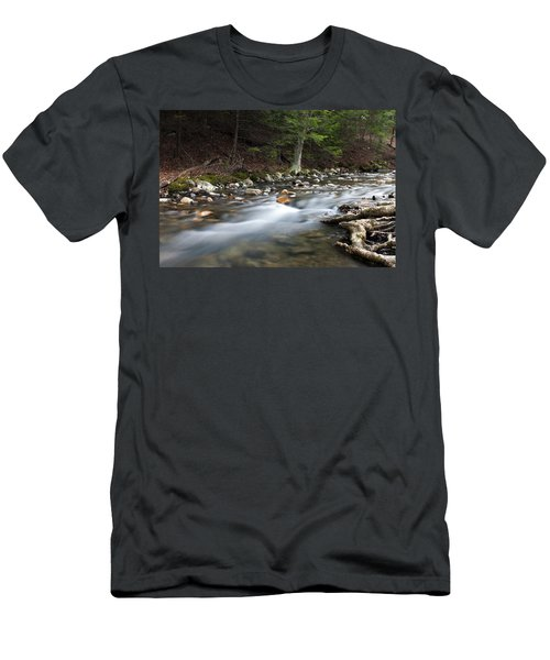 Men's T-Shirt (Slim Fit) featuring the photograph Coxing Kill In February #1 by Jeff Severson