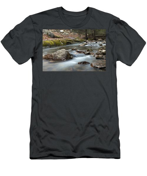 Men's T-Shirt (Slim Fit) featuring the photograph Coxing Kill In February #2 by Jeff Severson