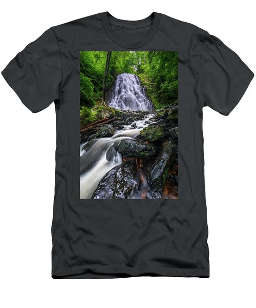 Crabtree Falls North Carolina Men's T-Shirt (Athletic Fit)