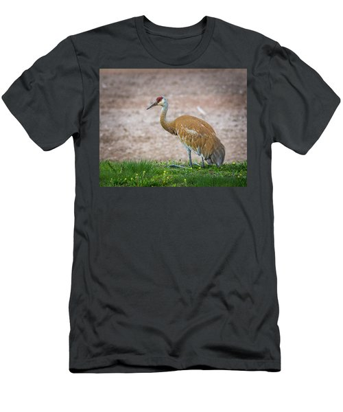 Men's T-Shirt (Athletic Fit) featuring the photograph Crane Down by Bill Pevlor