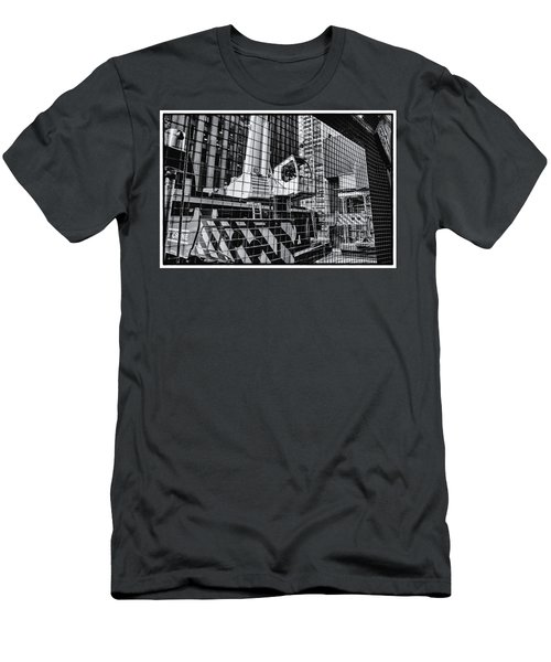 Crane In Manhattan Men's T-Shirt (Athletic Fit)