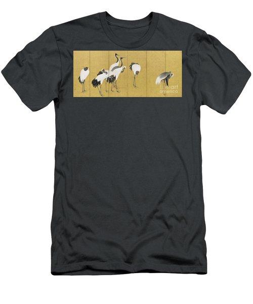 Cranes Men's T-Shirt (Athletic Fit)