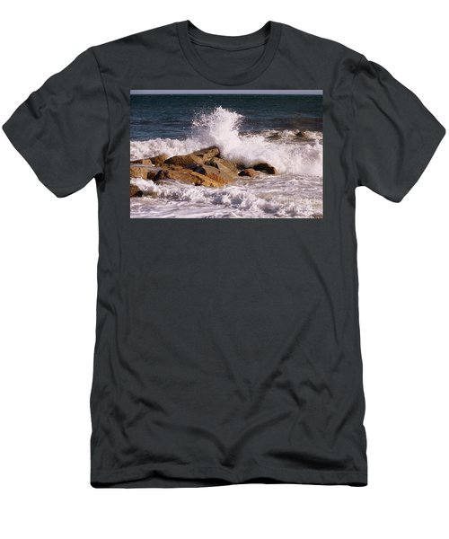Crashing Surf On Plum Island Men's T-Shirt (Athletic Fit)