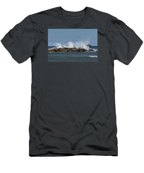 Crashing Waves And Gulls Men's T-Shirt (Athletic Fit)