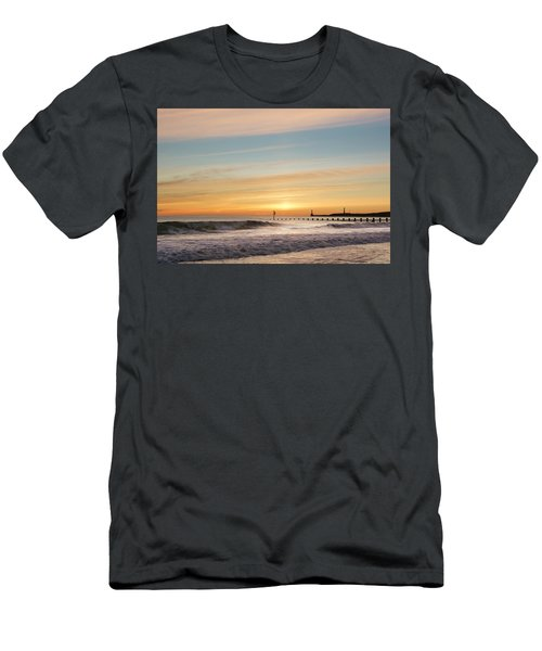 Crashing Waves At Aberdeen Beach Men's T-Shirt (Athletic Fit)