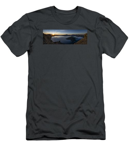 Crater Lake At Sunrise Men's T-Shirt (Athletic Fit)