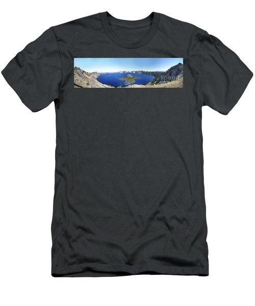 Crater Lake Panoramic Men's T-Shirt (Athletic Fit)