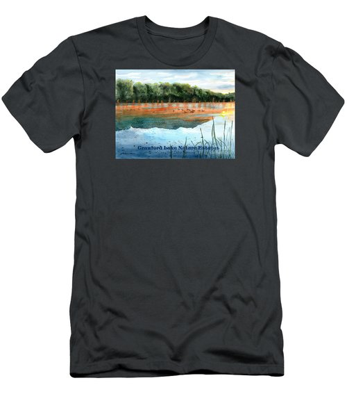 Crawford Lake Nature Estates Men's T-Shirt (Slim Fit) by LeAnne Sowa