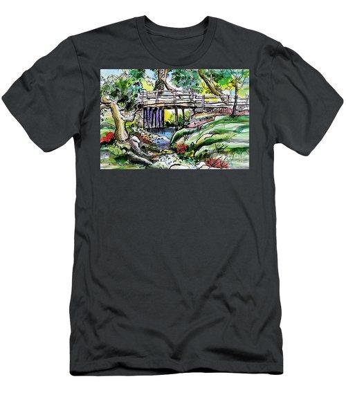 Creek Bed And Bridge Men's T-Shirt (Athletic Fit)