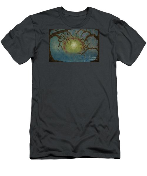 Men's T-Shirt (Slim Fit) featuring the painting Creeping by Jacqueline Athmann