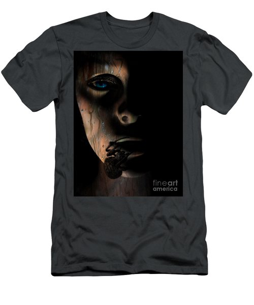 Men's T-Shirt (Slim Fit) featuring the photograph Creepy by Trena Mara