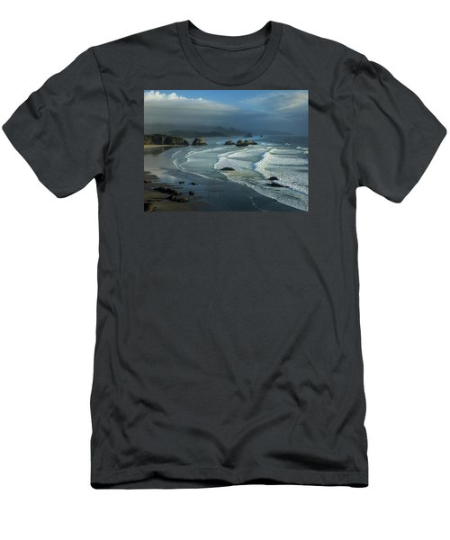 Crescent Beach And Surf Men's T-Shirt (Athletic Fit)