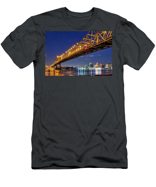 Crescent City Bridge, New Orleans, Version 2 Men's T-Shirt (Athletic Fit)