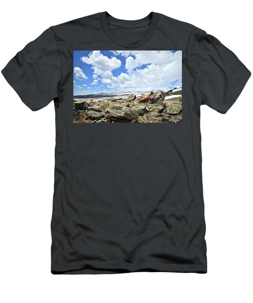 Crest Of Big Horn Pass In Wyoming Men's T-Shirt (Athletic Fit)