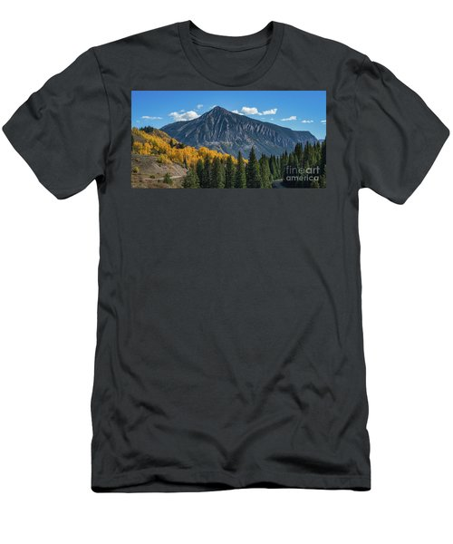 Crested Butte Mountain Men's T-Shirt (Athletic Fit)