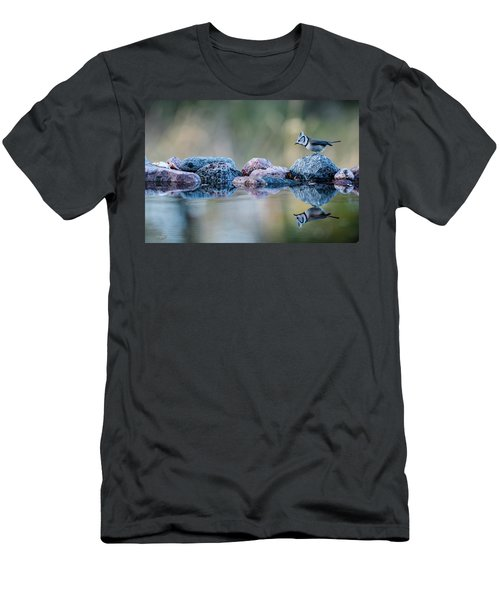 Crested Tit's Reflection Men's T-Shirt (Athletic Fit)