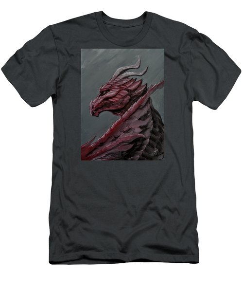 Men's T-Shirt (Athletic Fit) featuring the painting Crimson Dragon by Jennifer Hotai