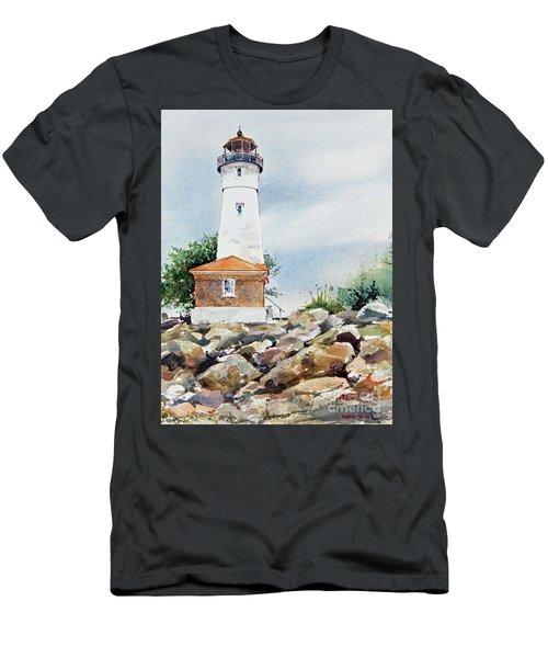 Crisp Lighthouse Men's T-Shirt (Athletic Fit)